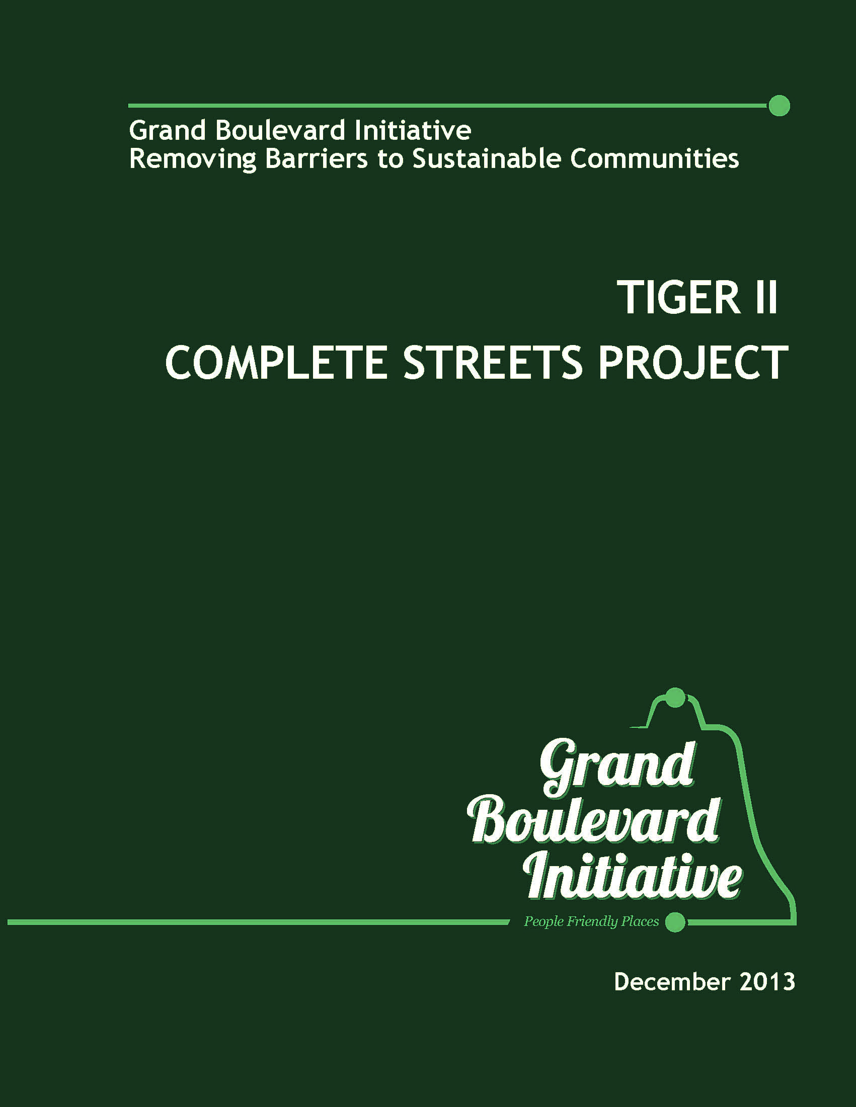 TIGERII Complete Streets Cover